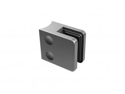 Nerez držák skla 45 x 45 mm, pro sloupek O33,7mm vč. těsnění sklo: 6mm