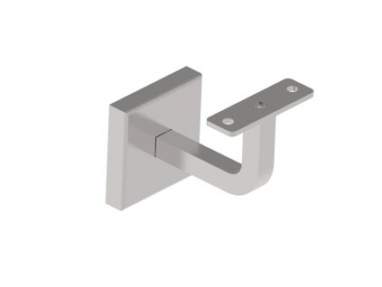 Nerezový držák madla s plochým základem, pro montáž na zeď, broušený, AISI 304