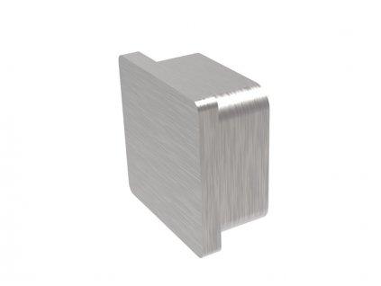 Plochá záslepka na profil 40 x 40 x 2,0 mm, broušená, AISI 304