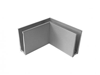 Kotvění vrchní rohové - sklo hliník AL/ELOX/Satin IN