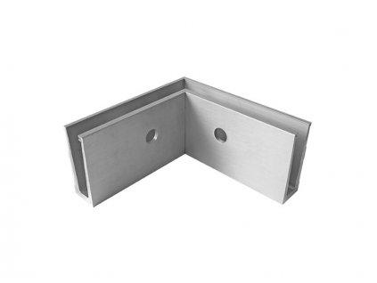 Kotvení boční rohové - sklo hliník AL/ELOX/Satin, IN