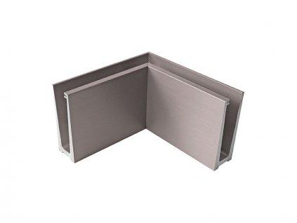 Kotvění vrchní rohové - sklo hliník AL/INOX/Satin IN