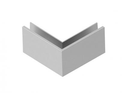 Kotvění vrchní rohové - sklo hliník AL/INOX/Satin OUT