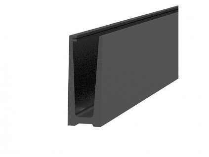 Montážní profil Hahn 121/45 mm pro sklo od 12 do 21,52 mm, vrchní kotvení, povrch. úprava Barva: černá