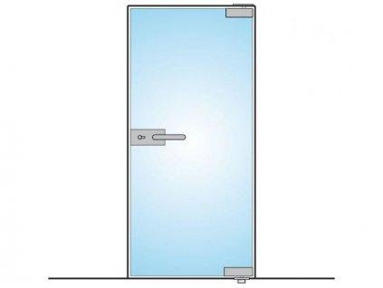 Sada pro celoskleněné jednokřídlé dveře 100kg