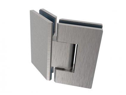 Závěs pro skleněné dveře, AISI 304, broušené