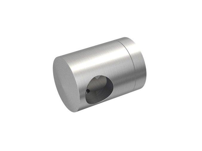 Levý koncový úchyt pro tyč Ø12,0 mm / pro profil (plochý povrch), nerezová ocel AISI 304, brus