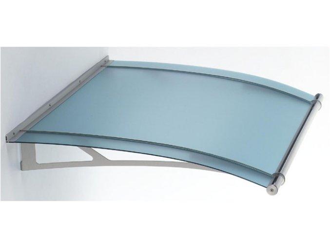 Stříška z matného modrého akrylového skla 2050 x 1420, AISI 304