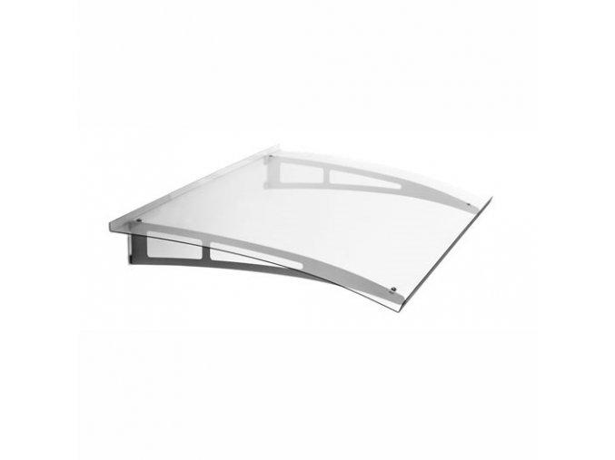 Stříška z bezbarvého akrylového skla 1400 x 900, AISI 304