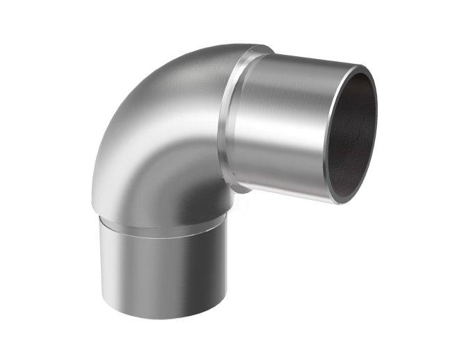 Spoj 90° pro vložení madla AISI304, D42,4x2mm