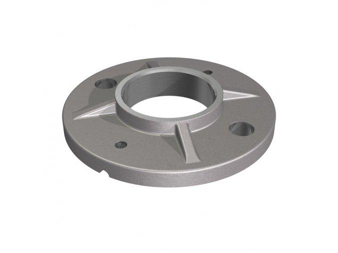 Montážní patka Ø100 x 8,0 mm, pro sloupek Ø48,3 mm, surová