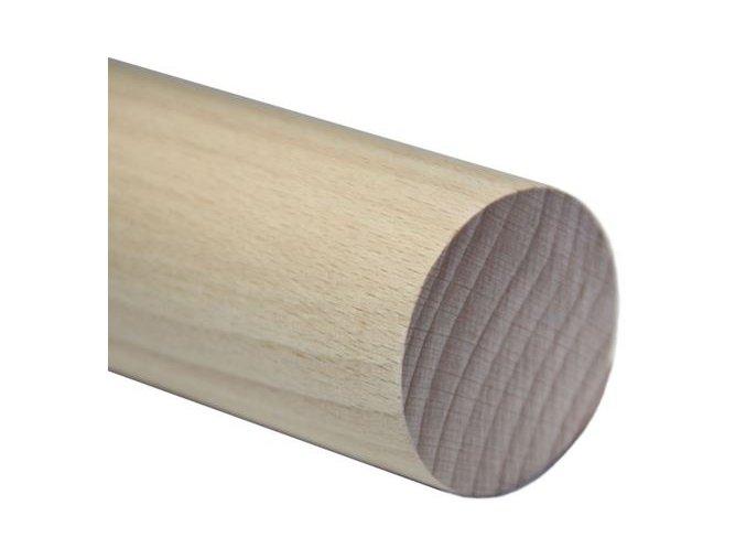 Madlo dřevěné - dub (surové) Ø42mm, 2000mm