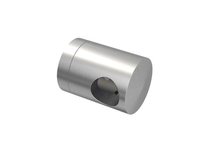 Úchyt s bočním průchodem pro tyč Ø12,0 mm / pro profil (plochý povrch), nerezová ocel AISI 304, brus