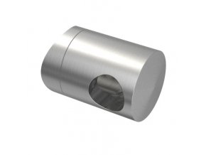 Úchyt s bočním průchodem pro tyč Ø12,0 mm / pro sloupek Ø42,4 mm, nerezová ocel AISI 304, brus