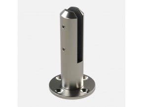 Držák pro upevnění skla k podlaze, tloušťka skla od 12 do 15 mm