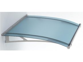 Stříška z matného modrého akrylového skla 1500 x 900, AISI 304