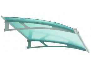 Stříška z matného zeleného akrylového skla 2050 x 1420, AISI 304