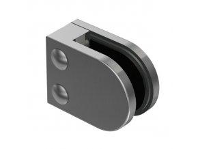 Nerez držák skla 63 x 45 mm, model 25 pro profil