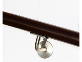 Drevěné madlo na zeď DUB (Ø42mm), odstín: 3085 palisandr