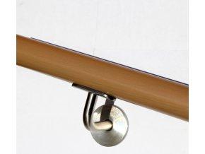Drevěné madlo na zeď DUB (Ø42mm), odstín: 3022 kaštan