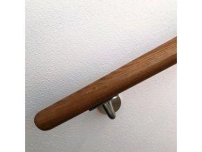Drevěné madlo na zeď DUB (Ø42mm), odstín: bezbarvý polomatný (délka madla 4000mm)