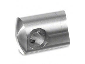 Koncovka levá pro lanko Ø3,2 mm pro sloupek pr. 42,4mm AISI 316, lesk