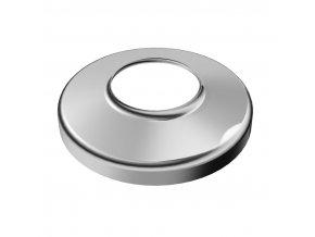 Krycí rozeta Ø95 mm s vnitřním otvorem Ø40 mm, leštěná