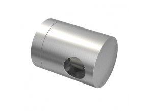 Úchyt s bočním průchodem pro tyč Ø10,0 mm / pro profil (plochý povrch), nerezová ocel AISI 304, brus