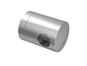 Spojnicový úchyt pro tyč Ø10,0 mm / pro profil (plochý povrch), nerezová ocel AISI 304, brus