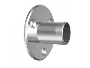 Nástěnná příruba pro trubku pr. 42,4 mm, nerez ocel AISI 304