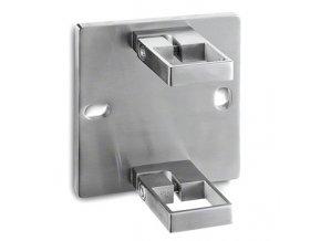 Kotvení sloupku 40 x 40 mm, brus, AISI 304
