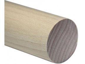 Madlo dřevěné - dub (surové) Ø48mm, 2500mm