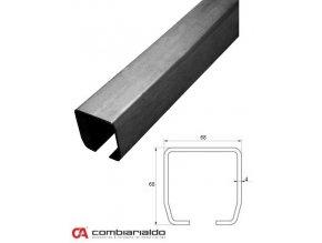 Profily Combi Arialdo C profil PICCOLO 68x68x4 mm, černý, cena za m  10% sleva pro registrované zákazníky