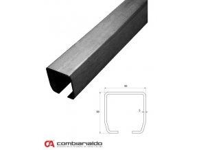 Profily Combi Arialdo C profil MEDIO 98x98x5 mm, černý  10% sleva pro registrované zákazníky