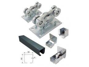 Sety pro samonosné brány do 5,5 m průjezdu Combi Arialdo C Set-P-4/Fe-K, brány do 5 m průjezdu a 400 kg  10% sleva pro registrované zákazníky