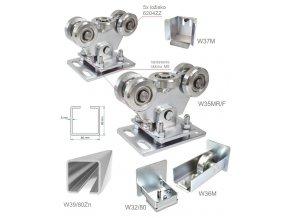 Sety pro samonosné brány do 5,5 m průjezdu Combi Arialdo W Set80/Zn-F, brány do 5,5 m a 300 kg  10% sleva pro registrované zákazníky