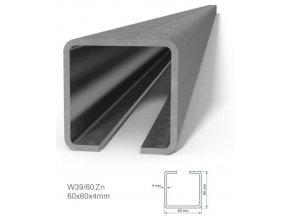 Profily Combi Arialdo W39/60FE profil 60x60x4 mm, černý, cena za m  10% sleva pro registrované zákazníky
