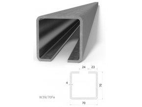 Profily Combi Arialdo W39/70Fe profil 70x70x4 mm, černý, cena za m  10% sleva pro registrované zákazníky
