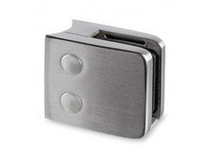 Nerezový držák skla 55 x 55 mm, pro sloupek pr. 42.4mm