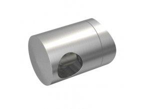 Levý koncový úchyt pro tyč Ø12,0 mm / pro sloupek Ø42,4 mm, nerezová ocel AISI 304, brus