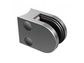 Nerezový držák skla 50 x 40 mm, pro sloupek pr. 42.4 mm, AISI 304