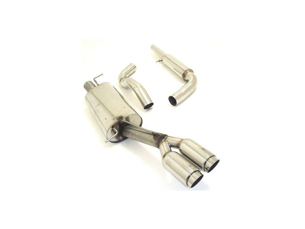 Středový a koncový díl výfuku 63.5 mm - NEREZ