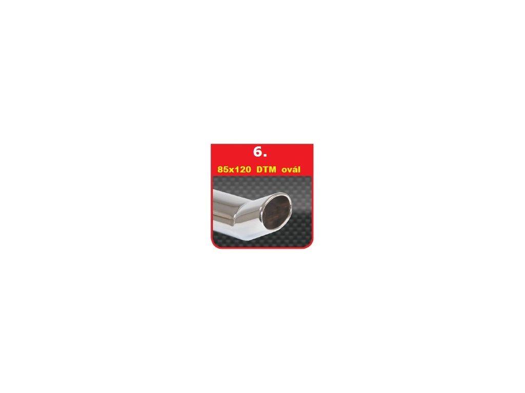 6 - Nerezová koncovka výfuku - 90×120 DTM