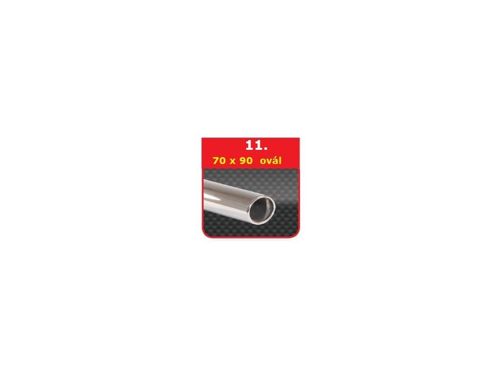 11 - Nerezová koncovka výfuku - 70×90 ovál