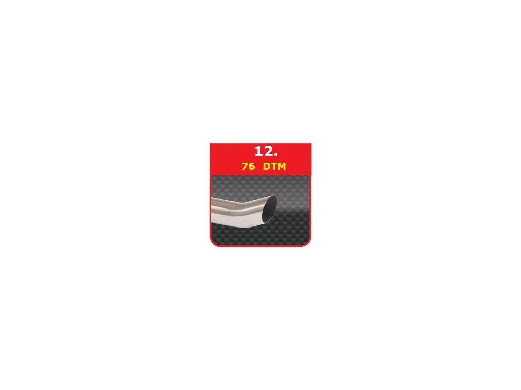 12 - Nerezová koncovka výfuku - 76 DTM