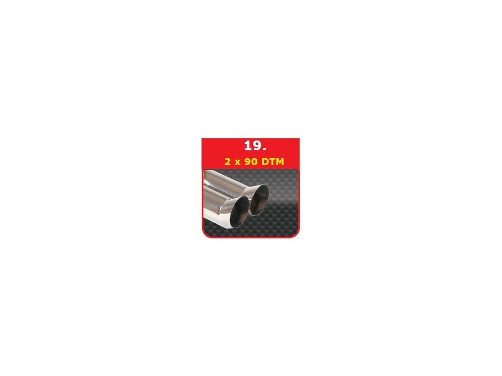19 - Nerezová koncovka výfuku - 2×90 DTM