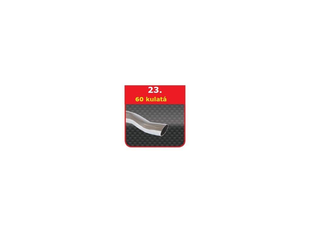 23 - Nerezová koncovka výfuku - 60 S-Form