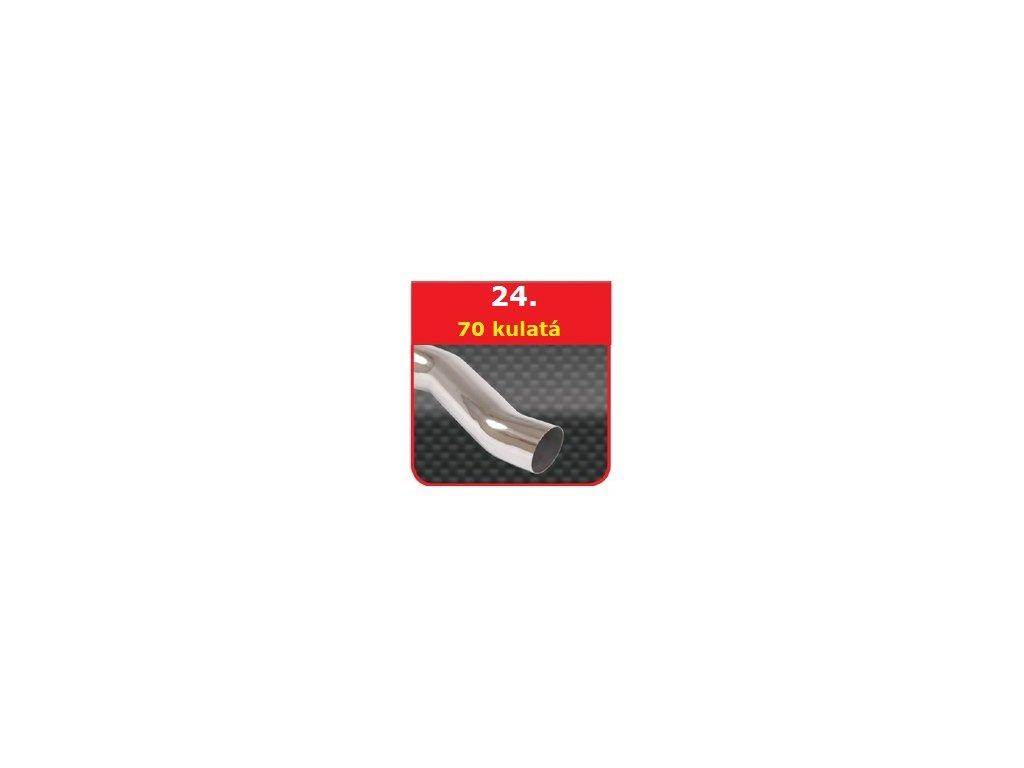 24 - Nerezová koncovka výfuku - 76 S-Form