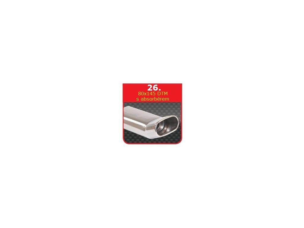 26 - Nerezová koncovka výfuku - 75×135 DTM s absorbérem