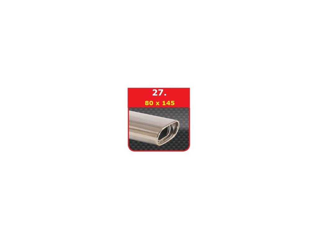27 - Nerezová koncovka výfuku - 75×135 s absorbérem